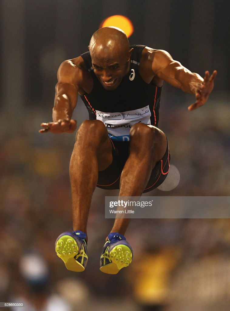 Nathan Douglas of Great Britain competes in the Men's Triple Jump final during the Doha IAAF Diamond League 2016 meeting at Qatar Sports Club on May 6, 2016 in Doha, Qatar.