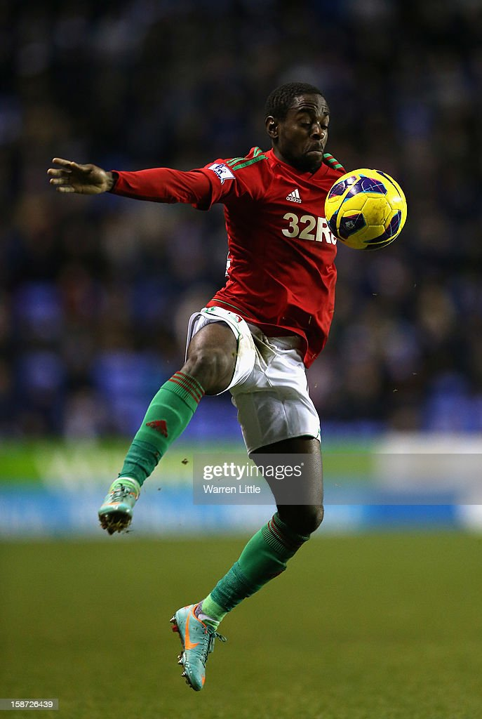 Nathan Dyer of Swansea City in action during the Barclays Premier League match between Reading and Swansea City at Madejski Stadium on December 26, 2012 in Reading, England.