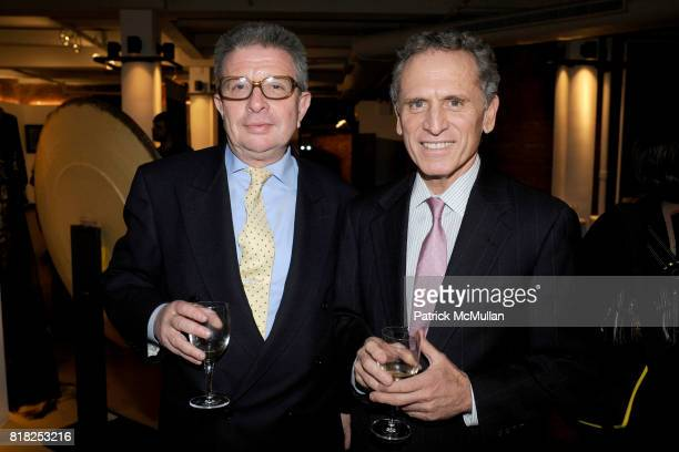 Nathan E Stambouli and William J Martini attend Ralph Rucci Hiroto Rakusho Art exhibit reception at The Xchange 640 W 28th St on February 17 2010