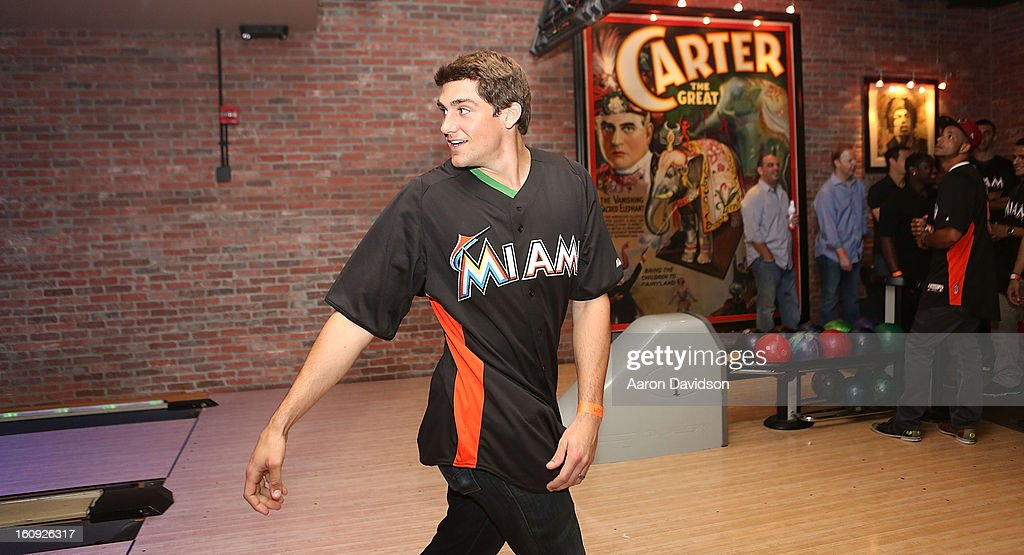 <a gi-track='captionPersonalityLinkClicked' href=/galleries/search?phrase=Nathan+Eovaldi&family=editorial&specificpeople=8023089 ng-click='$event.stopPropagation()'>Nathan Eovaldi</a> attends The Miami Marlins Host 7th Annual BaseBowl at Lucky Strike Lanes on February 7, 2013 in Miami Beach, Florida.