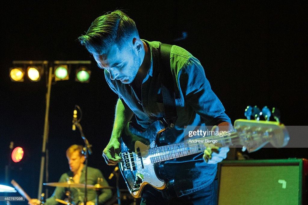 Nathan Fairweather of Brontide performs on stage at Tramlines Festival at City Hall on July 26, 2014 in Sheffield, United Kingdom.