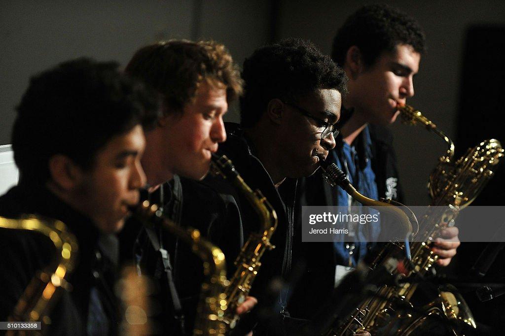 Nathan Farrell Matthew Richards MOrgan GUerin and Ben Fitzpatrick perform at The 58th GRAMMY Awards GRAMMY Living Room Concert GRAMMY Camp Jazz...