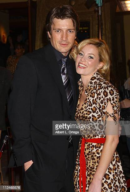 Nathan Fillion and Elizabeth Banks during 'Slither' Special Hollywood Screening March 9 2006 at Vista Theater in Hollywood California United States