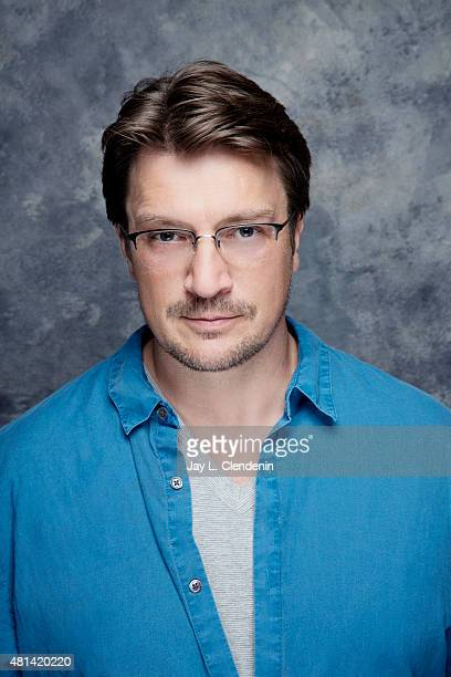 Nathan Fillion of 'Con Man' poses for a portrait at ComicCon International 2015 for Los Angeles Times on July 9 2015 in San Diego California...