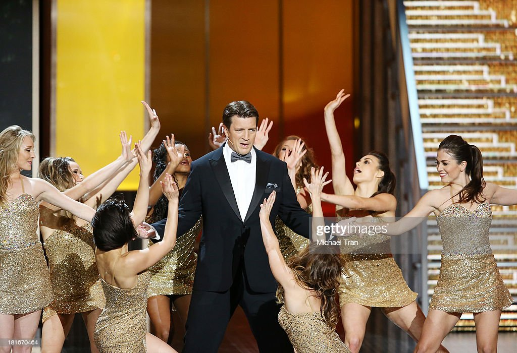 Nathan Fillion performs onstage during the 65th Annual Primetime Emmy Awards held at Nokia Theatre LA Live on September 22 2013 in Los Angeles...