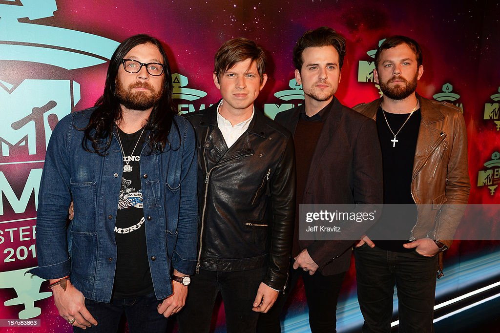 <a gi-track='captionPersonalityLinkClicked' href=/galleries/search?phrase=Nathan+Followill&family=editorial&specificpeople=221434 ng-click='$event.stopPropagation()'>Nathan Followill</a>, <a gi-track='captionPersonalityLinkClicked' href=/galleries/search?phrase=Matthew+Followill&family=editorial&specificpeople=209326 ng-click='$event.stopPropagation()'>Matthew Followill</a>, <a gi-track='captionPersonalityLinkClicked' href=/galleries/search?phrase=Jared+Followill&family=editorial&specificpeople=215031 ng-click='$event.stopPropagation()'>Jared Followill</a> and <a gi-track='captionPersonalityLinkClicked' href=/galleries/search?phrase=Caleb+Followill&family=editorial&specificpeople=210594 ng-click='$event.stopPropagation()'>Caleb Followill</a> of Kings of Leon pose in the Exclusive Arrivals Studio during MTV EMA's 2013 at the Ziggo Dome on November 10, 2013 in Amsterdam, Netherlands.