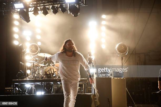 Nathan Followill of Kings of Leon performs at PNC Bank Arts Center on May 20 2017 in Holmdel New Jersey