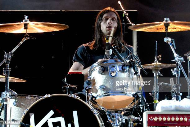 Nathan Followill performs with 'The Kings of Leon' at the Red Rocks Amplitaheater in Morrison Colorado on September 14 2007