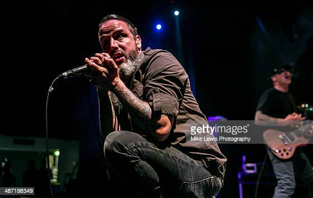 Nathan Gray of Boy Sets Fire performs on stage at Solus on April 27 2014 in Cardiff United Kingdom