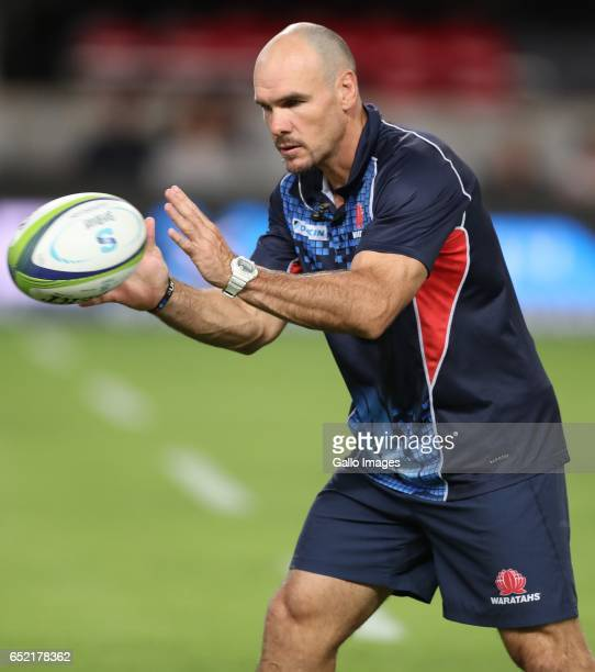 Nathan Grey of the NSW Waratahs during the Super Rugby match between the Cell C Sharks and Waratahs at Growthpoint Kings Park on March 11 2017 in...