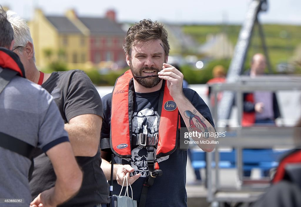 Nathan Hamill, son of actor Mark Hamill, arrives at Portmagee harbour to be transported to the set on the JJ Abrams directed Star Wars Episode VII on July 28, 2014 in Skellig Island, Ireland.