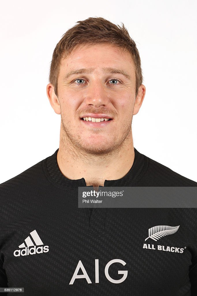 Nathan Harris of the All Blacks poses for a portrait during a New Zealand All Black portrait session on May 29, 2016 in Auckland, New Zealand.