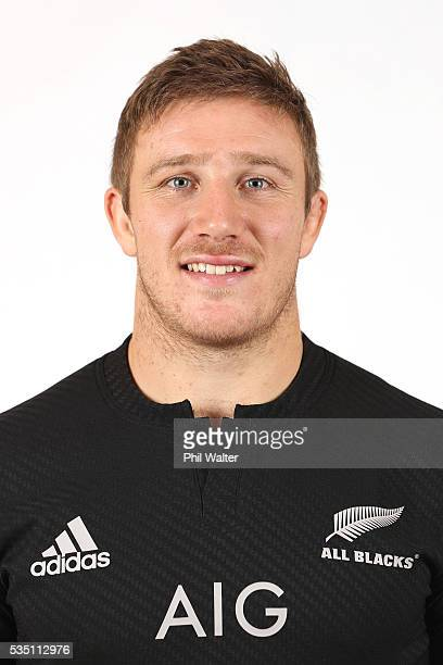Nathan Harris of the All Blacks poses for a portrait during a New Zealand All Black portrait session on May 29 2016 in Auckland New Zealand