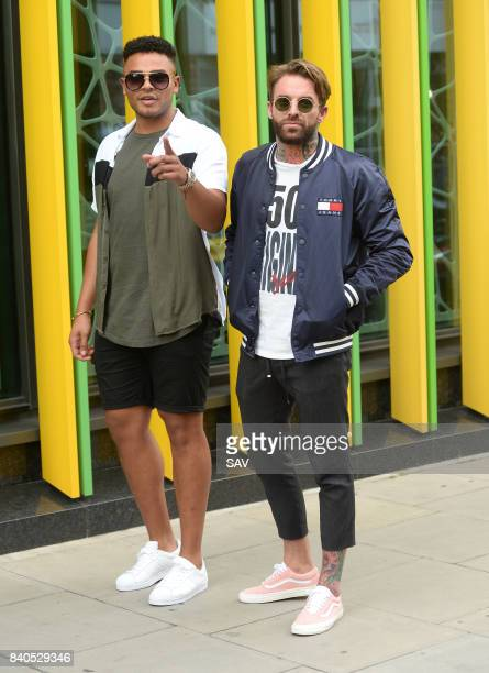 Nathan Henry and Marty Mckenna outside the MTV Studios to promote their new series sighting on August 30 2017 in London England