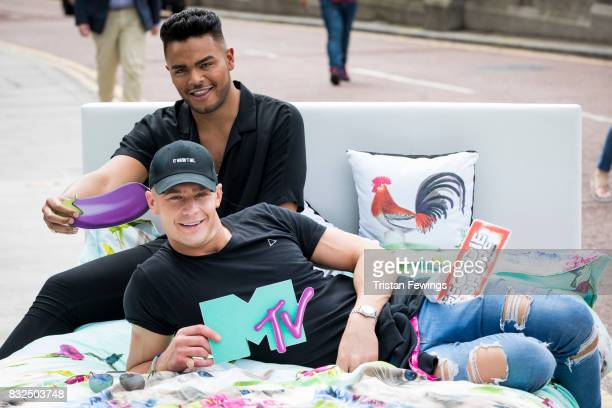 Nathan Henry and Scotty T attend the Geordie Shore Land of Hope and Geordie photocall to celebrate the launch of series 15 on August 16 2017 in...