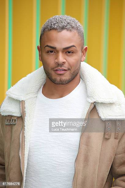 Nathan Henry arrive Geordie Shore cast launch Series 13 at MTV London on October 24 2016 in London England