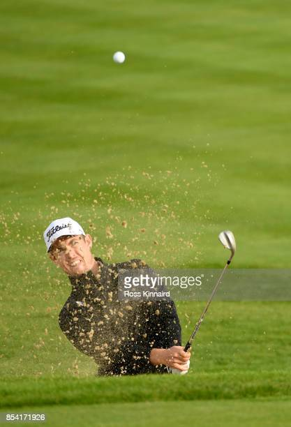 Nathan Holman of Australia in action during a practice round prior to the British Masters at Close House Golf Club on September 26 2017 in Newcastle...