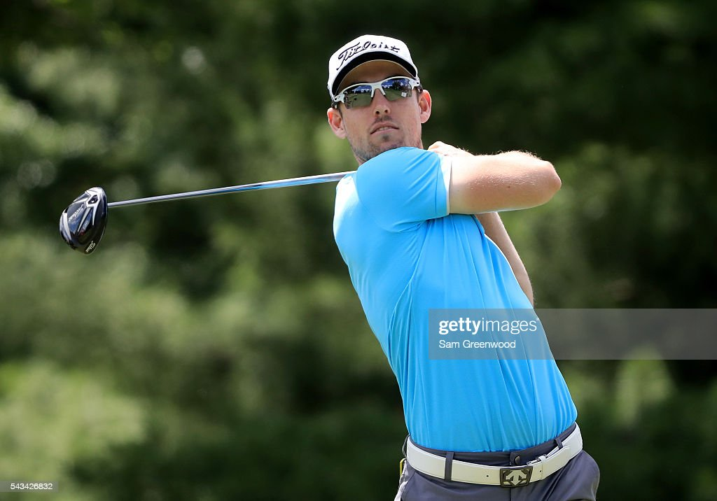 Nathan Holman of Australia plays a shot during a practice round prior to the World Golf Championships-Bridgestone Invitational at Firestone Country Club South Course on June 28, 2016 in Akron, Ohio.