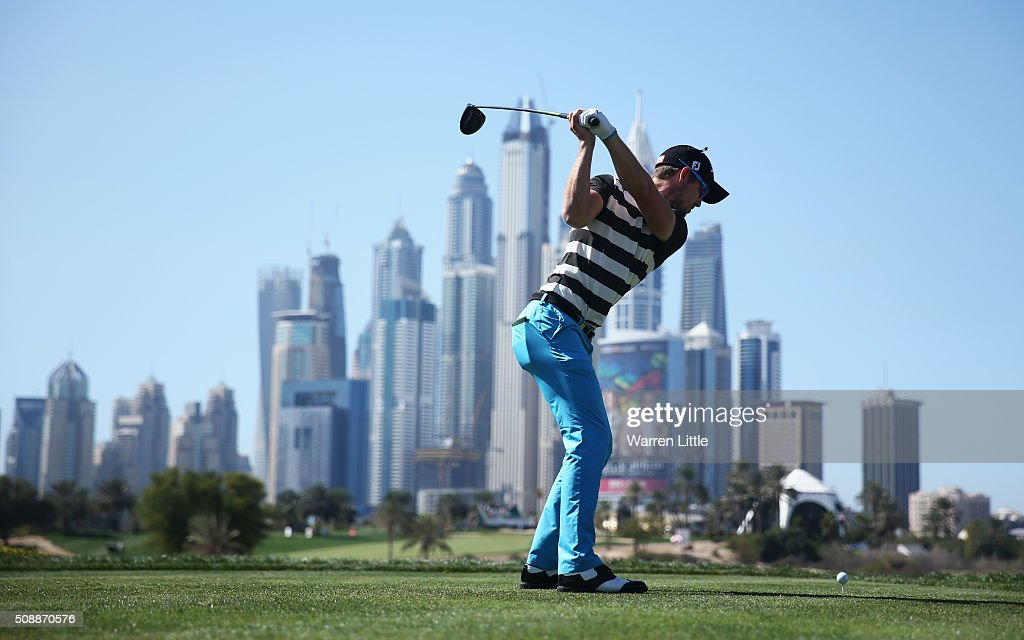<a gi-track='captionPersonalityLinkClicked' href=/galleries/search?phrase=Nathan+Holman+-+Golfer&family=editorial&specificpeople=15366961 ng-click='$event.stopPropagation()'>Nathan Holman</a> of Australia tees off on the 8th hole during the final round of the Omega Dubai Desert Classic at the Emirates Golf Club on February 7, 2016 in Dubai, United Arab Emirates.