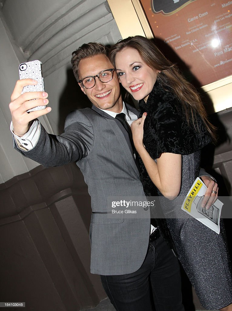 Nathan Johnson and <a gi-track='captionPersonalityLinkClicked' href=/galleries/search?phrase=Laura+Osnes&family=editorial&specificpeople=4213655 ng-click='$event.stopPropagation()'>Laura Osnes</a> attends the 'Who's Afraid Of Virginia Woolf?' Broadway Opening Night at The Booth Theatre on October 13, 2012 in New York City.
