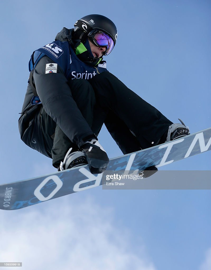 Nathan Johnstone of Australia competes in the FIS Snowboard World Cup Half Pipe men's finals at the US Grand Prix on January 12, 2013 in Copper Mountain, Colorado. Johnstone finished the event in first place.