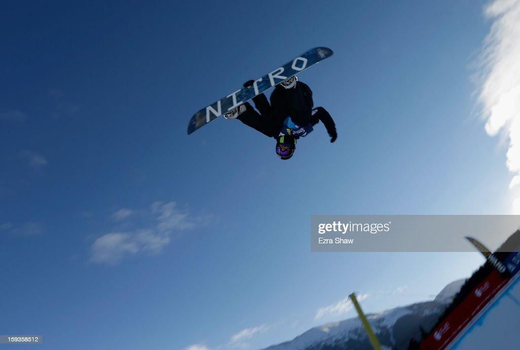 Nathan Johnstone of Australia warms up before the start of the FIS Snowboard World Cup Half Pipe finals at the US Grand Prix on January 12, 2013 in Copper Mountain, Colorado. Johnstone finished the event in first place.