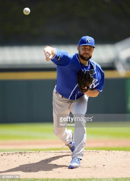 Nathan Karns of the Kansas City Royals pitches against the Chicago White Sox on April 26 2017 at Guaranteed Rate Field in Chicago Illinois The White...