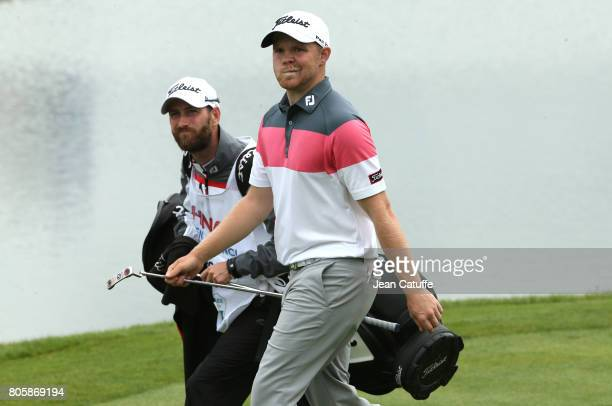 Nathan Kimsey of England during the HNA Open de France part of the PGA European Tour at Le Golf National golf course on July 2 2017 in...