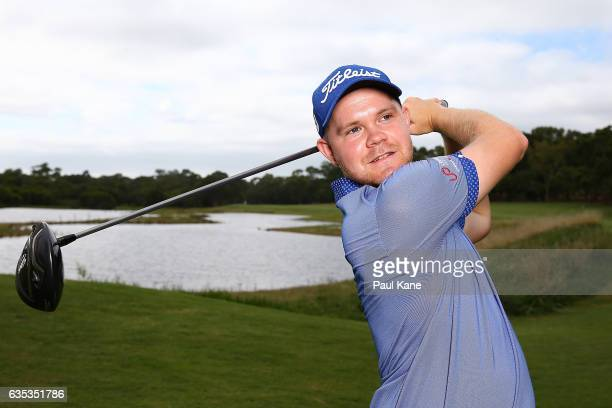 Nathan Kimsey of England poses during previews ahead of the ISPS HANDA World Super 6 Perth at Lake Karrinyup Country Club on February 15 2017 in...
