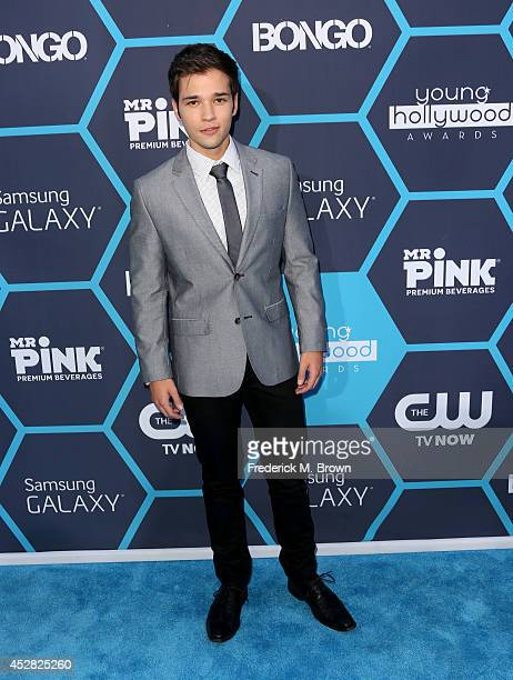 Nathan Kress attends the 2014 Young Hollywood Awards brought to you by Samsung Galaxy at The Wiltern on July 27 2014 in Los Angeles California