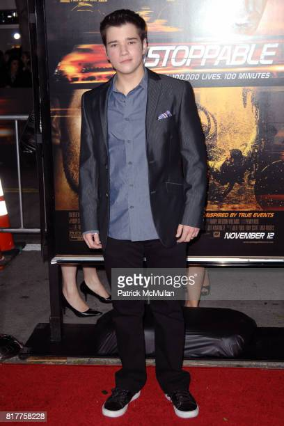 Nathan Kress attends UNSTOPPABLE World Premiere at Regency Village Theatre on October 26 2010 in Westwood California