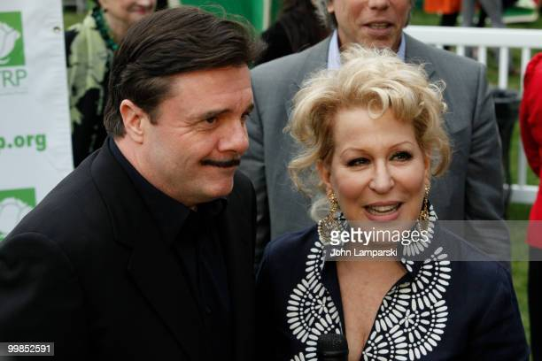 Nathan Lane and Bette Midler attend the 9th annual New York Restoration Project's Spring Picnic at Fort Washington Park on May 17 2010 in New York...