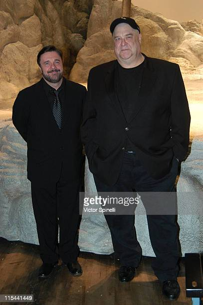 Nathan Lane and John Goodman attends the 'Waiting for Godot' Broadway opening night at the Roundabout Theatre Company's Studio 54 on April 30 2009 in...
