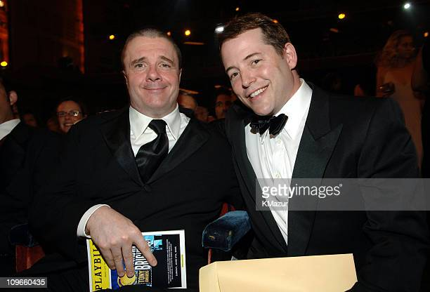 Nathan Lane and Matthew Broderick during 59th Annual Tony Awards Audience and Backstage at Radio City Music Hall in New York City New York United...