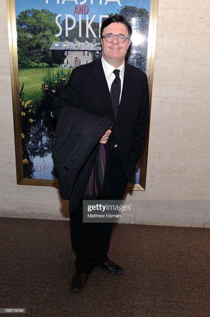 Nathan Lane attends the opening night of 'Vanya And Sonia And Masha And Spike' at Mitzi E. Newhouse Theater on November 12, 2012 in New York City.