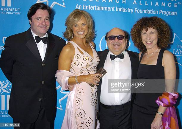 Nathan Lane Katie Couric Danny DeVito and wife Rhea Pearlman