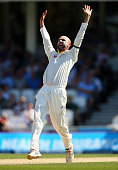 Nathan Lyon of Australia appeals for a wicket during day three of the 5th Investec Ashes Test match between England and Australia at The Kia Oval on...