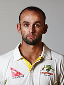 Nathan Lyon of Australia oses during an Australian Cricket Team Ashes portrait session on June 1 2015 in Roseau Dominica