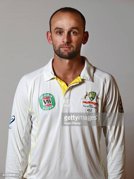 Nathan Lyon of Australia poses during an Australian portrait session on May 31 2015 in Roseau Dominica