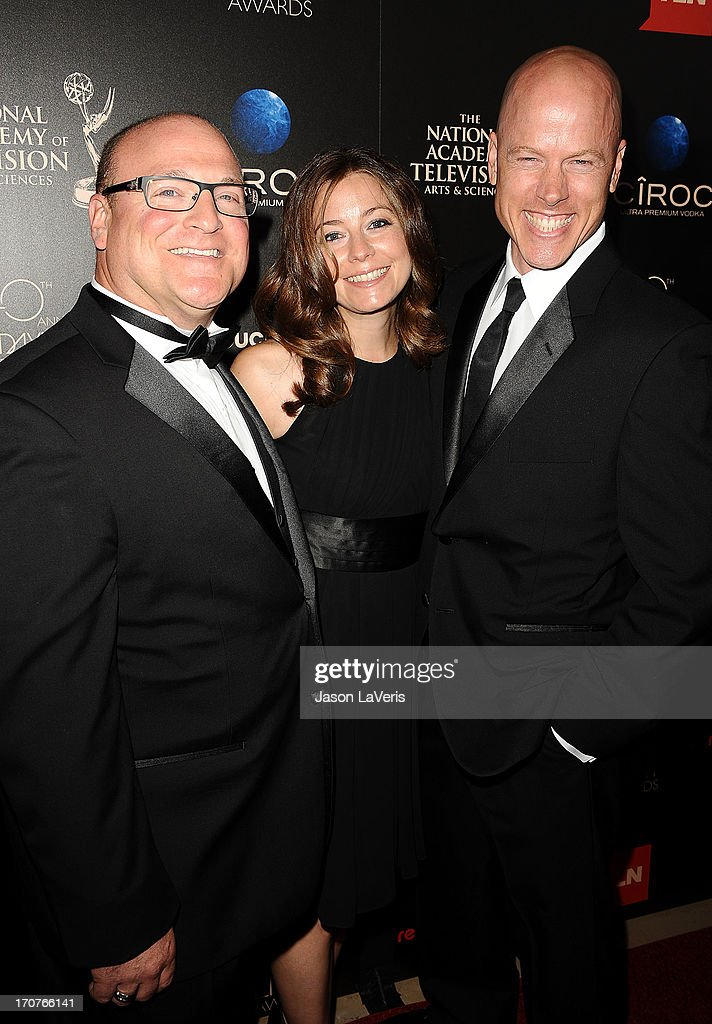 Nathan Lyon, Sarah Forman and Garrett Bess attend the 40th annual Daytime Emmy Awards at The Beverly Hilton Hotel on June 16, 2013 in Beverly Hills, California.