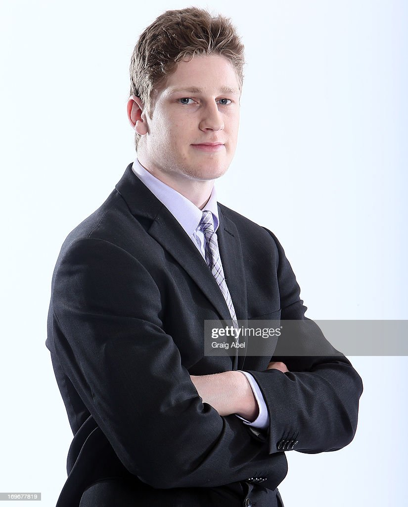 Nathan MacKinnon has his formal portrait taken during the 2013 NHL Combine May 30, 2013 at the Westin Bristol Place Hotel in Toronto, Ontario, Canada.
