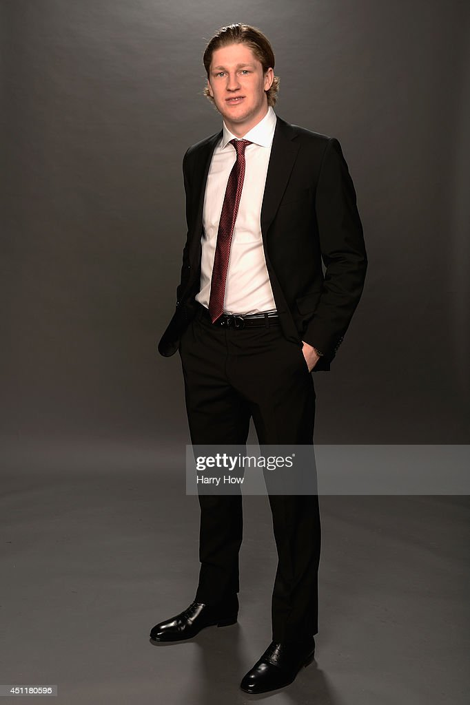 Nathan MacKinnon of the Colorado Avalanche poses for a portrait during the 2014 NHL Awards at Encore Las Vegas on June 24, 2014 in Las Vegas, Nevada.