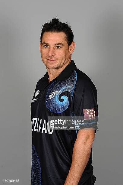 Nathan McCullen poses for the camera during the New Zealand Portrait Session at the Hilton Hotel on June 7 2013 in Cardiff Wales