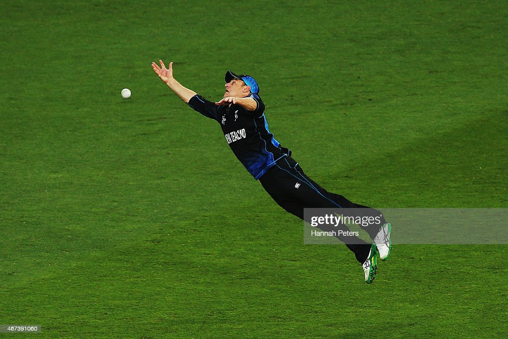<a gi-track='captionPersonalityLinkClicked' href=/galleries/search?phrase=Nathan+McCullum&family=editorial&specificpeople=884481 ng-click='$event.stopPropagation()'>Nathan McCullum</a> of New Zealand drops a catch during the 2015 Cricket World Cup Semi Final match between New Zealand and South Africa at Eden Park on March 24, 2015 in Auckland, New Zealand.