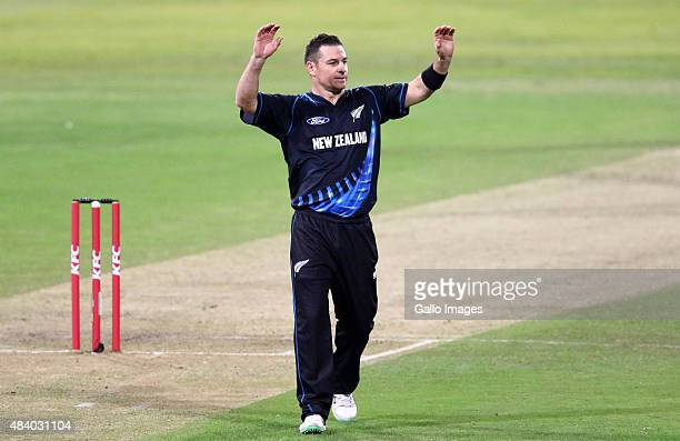 Nathan McCullum of New Zealand during the 1st KFC T20 International match between South Africa and New Zealand at Sahara Stadium Kingsmead on August...