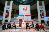 Nathan OutteridgeBen AinslieJimmy Spithill Dean Barker Glenn Ashby Franck Cammas answer questions during the Louis Vuitton America's Cup World Series...