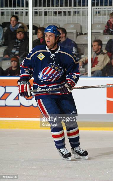 Nathan Paetsch of the Rochester Americans skates against the Toronto Marlies at Ricoh Coliseum on December 11 2005 in Toronto Ontario Canada...