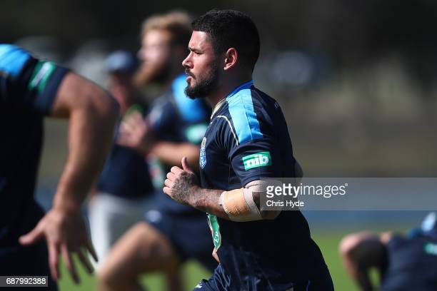 Nathan Peats runs during a New South Wales Blues State of Origin training session at Cudgen Leagues Club on May 25 2017 in Kingscliff Australia