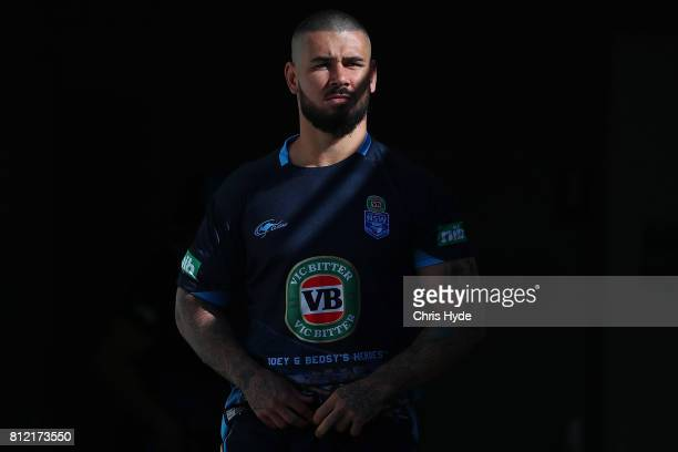 Nathan Peats walks out for the New South Wales Blues State of Origin training session at Cbus Super Stadium on July 11 2017 in Gold Coast Australia