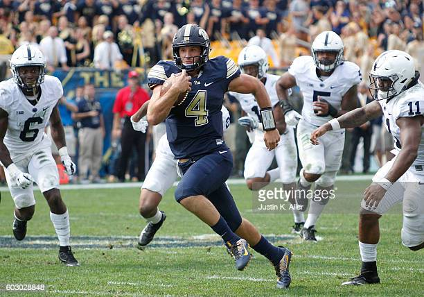Nathan Peterman of the Pittsburgh Panthers in action during the game against the Penn State Nittany Lions on September 10 2016 at Heinz Field in...